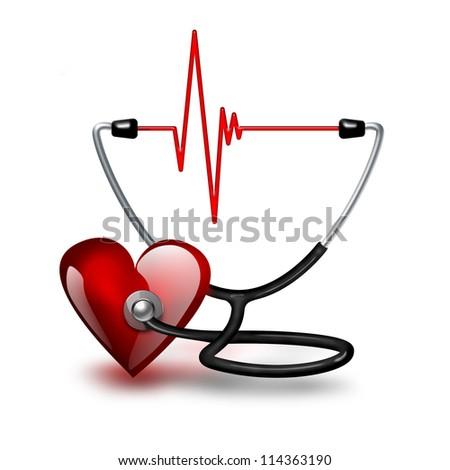 Listening heartbeat concept