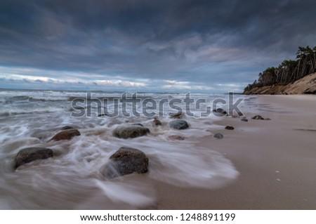 listopad  na plaży  w Orzechowie  Zdjęcia stock ©