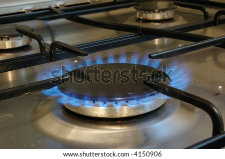 Lit Gas oven Hob