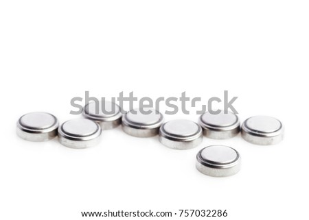 Lithium batteries isolated on white #757032286