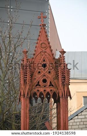 Lithuania, Kaunas Catholic Carmelite Church, 17th century, cemetery buildings stock photo