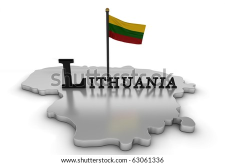 Lithuania Tribute/Digitally rendered scene with flag and typography
