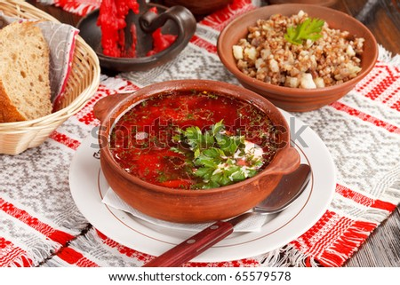 Lithuanian borscht (national belorussian food)