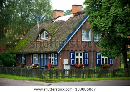 Lithuanian Resort - Pervalka, Nida, Lithuania, Europe. Traditional fisherman's house in Nida, Lithuania.
