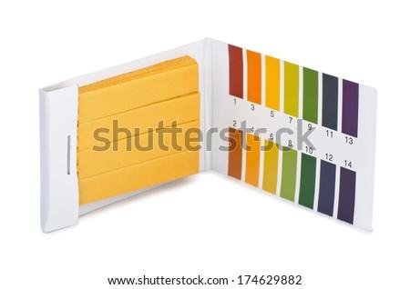 Litmus ph test paperisolated on white