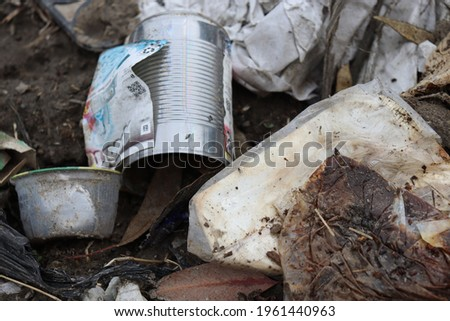 Littering Pollution in the City of Watts Foto stock ©