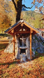 little altar in a stone