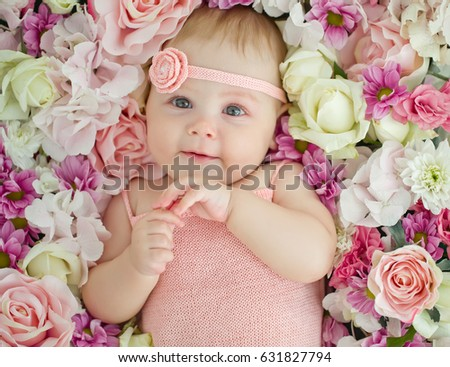 Free Photos Cute Baby With Flowers Avopixcom