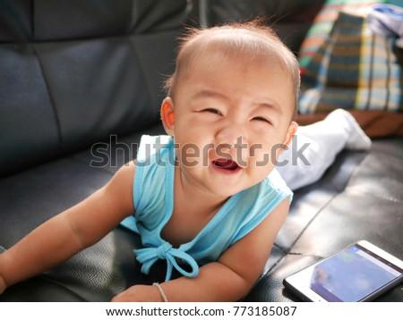 Little baby girl good mood #773185087