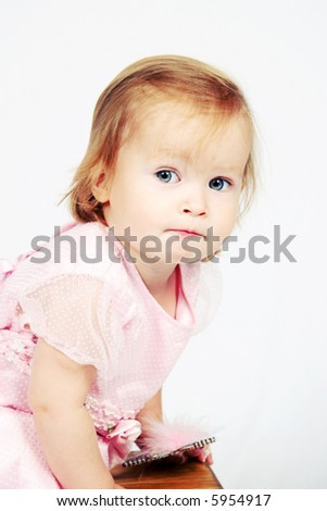 Little Baby Girl in pink dress
