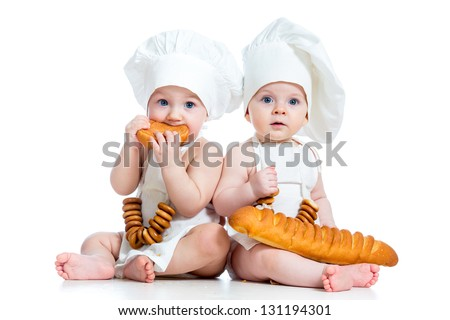 Little bakers kids boy and girl