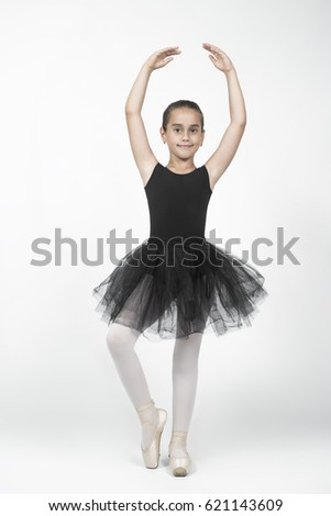 741289fb7b5b Little ballet dancer on a white background