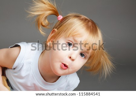 little beautiful girl portrait