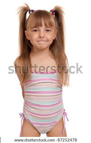 Beautiful Little Girl in Swimsuit