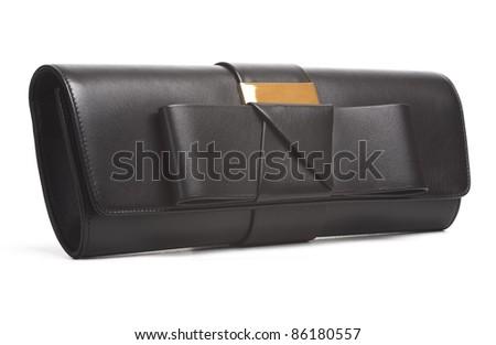 little black  purse  on white