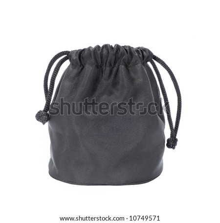 Little black sack, isolated