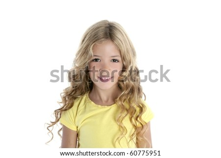 little blond girl portrait smiling