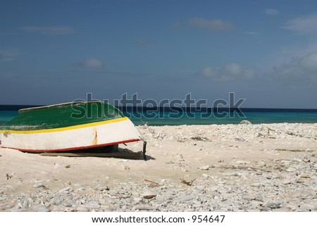 Little boat on the beach