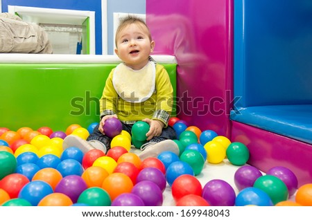 Little boy and balls