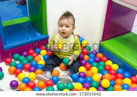 Little boy and balls