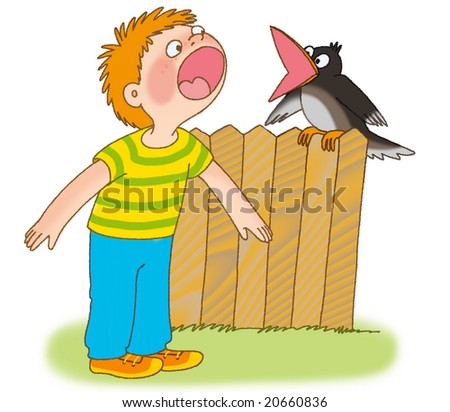 http://image.shutterstock.com/display_pic_with_logo/216466/216466,1226920163,3/stock-photo-little-boy-and-crow-are-cawing-20660836.jpg