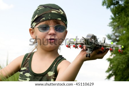 little boy dreams of becoming a fighter pilot