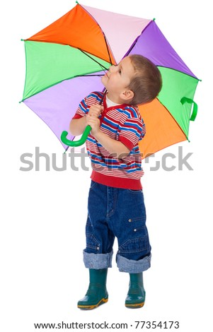 With umbrella,balloons and kites