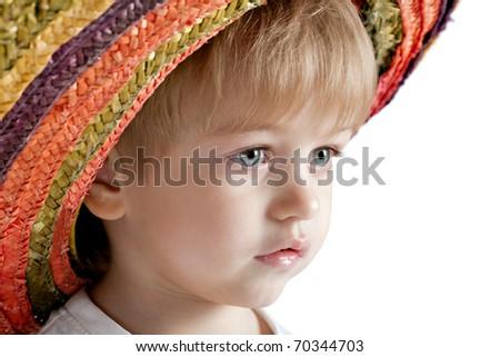 little boy in sombrero portrait