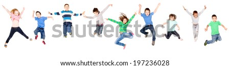 little boy isolated in white #197236028