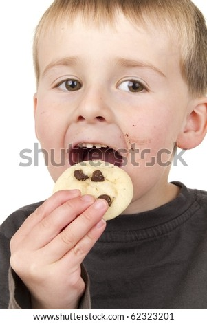 Little Boy loves homemade allergen free cookies
