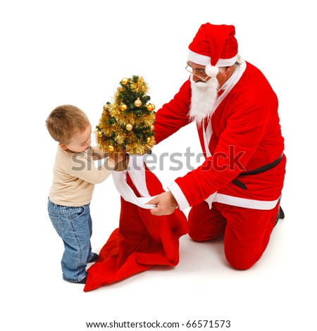 ... you can use santa claus his sleigh and the reindeer separately or