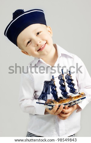Little boy sailor
