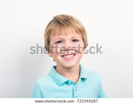 little boy smiling
