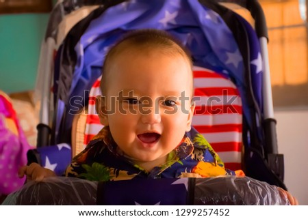 Little boy smiling.happy smiling of boy.smiling cute baby.  #1299257452
