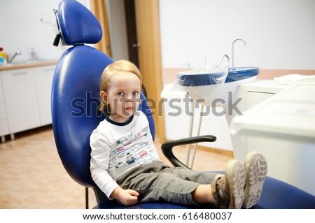 Little boy visiting dentists, regular visits to the doctor #616480037