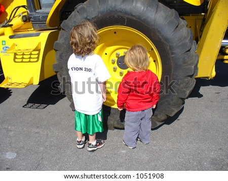 Little Boys With Big Tractor