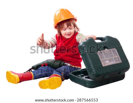677dd6133cc Little builder in hardhat with tool. Isolated over white background   287566553