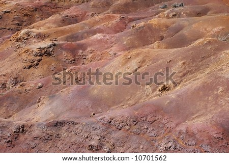 Little canyon made from volcano sand
