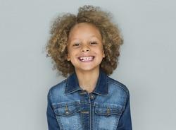 Little Caucasian Boy Smiling Adorable