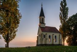 little chapel before sunrise