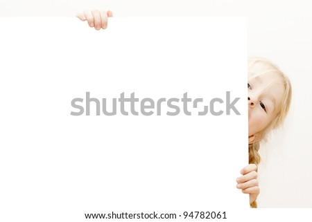 little child behind white board.  See my portfolio for more