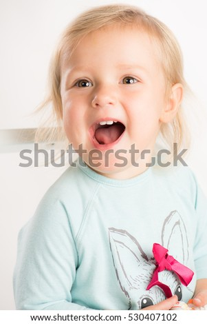 Stock Photo little child laughing