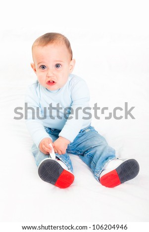 Little Child on White