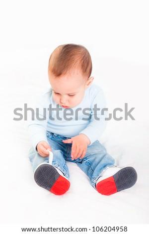 Little Child on White