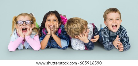 Little Children Having Fun Together Smiling #605916590