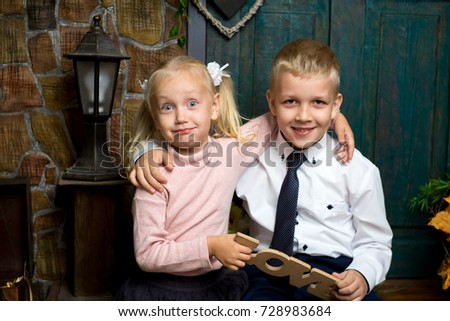 Free Photos Cute Little Boy And Girl Holding Hands Christmas