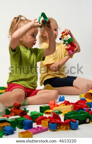 Little Children Playing With