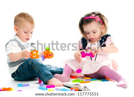 little children playing with toys
