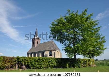 Little Church - A small protestant country chapel in a rural polder of Dutch Friesland