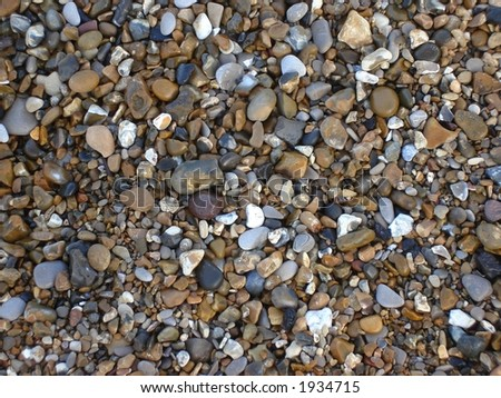 Little colorful Pebbles on beach
